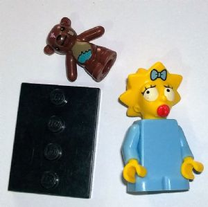Lego The Simpsons 2014 Maggie Simpson minifigure series complete